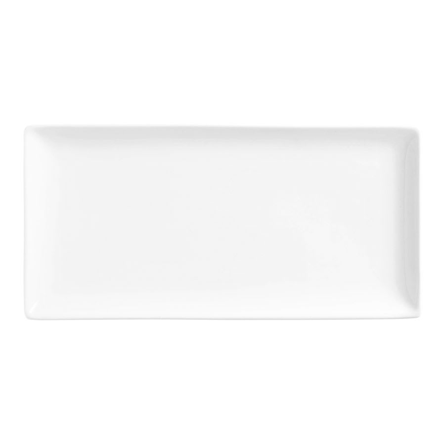 "World Tableware SL-22C Rectangular Slate Coupe Porcelain Tray - 16-1/4x5-1/2"" Ultra Bright White"