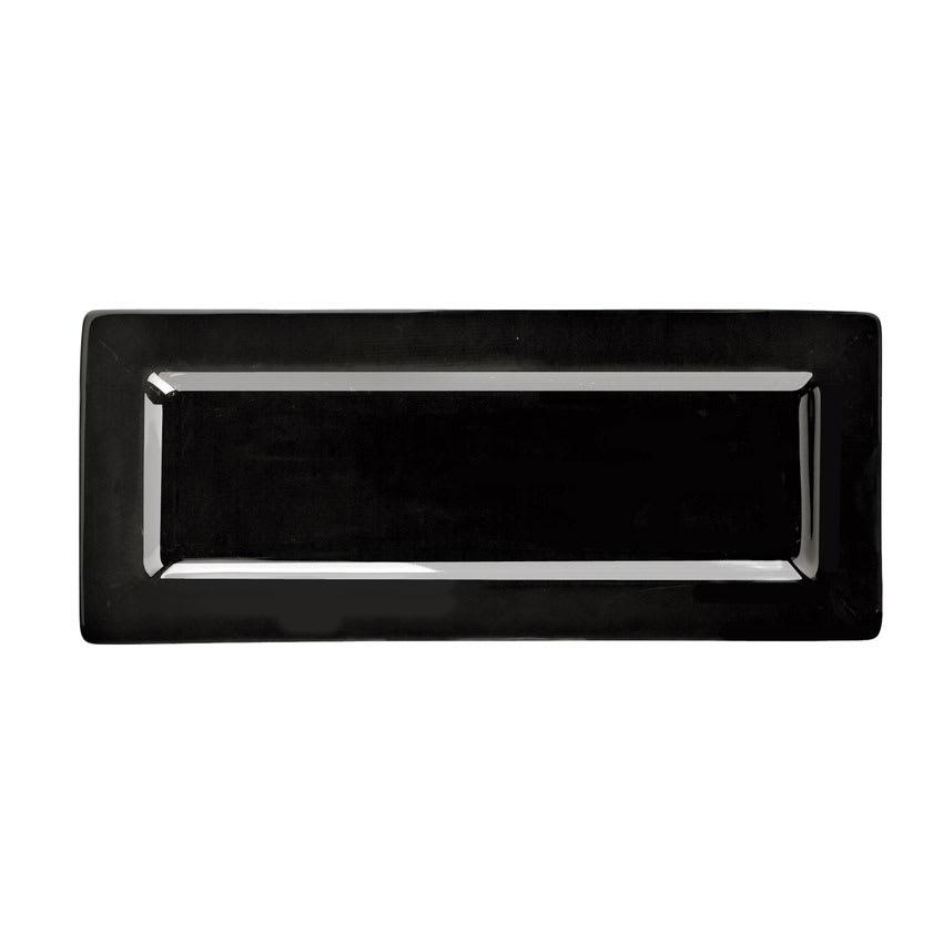 "World Tableware SL-24-B Rectangular Porcelain Plate, 10.5x4.37"", Black, Porcelana, Slate"