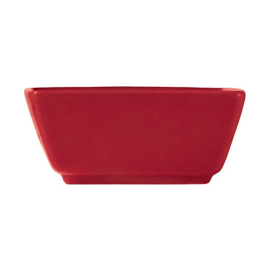 World Tableware SL-3-R 2.75-oz Porcelain Square Dipping Bowl, Red, Slate