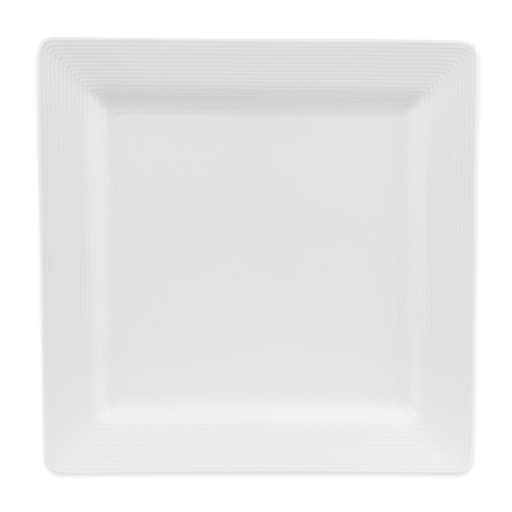 "World Tableware SL-40S 12"" Square Plate - Porcelain, Ultra Bright White, Slate"