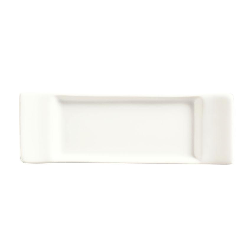 "World Tableware SL-5 Porcelain Micro Tray, 5.75x1.87"", Bright White, Slate"