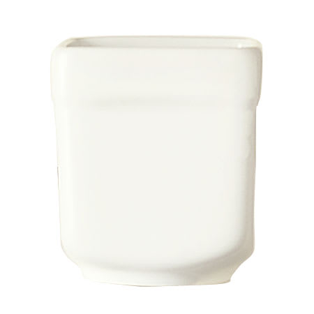 "World Tableware SL-52 2.5 oz Sampler Cube - 2x2.25"", Square, Porcelain, Ultra Bright White, Slate"