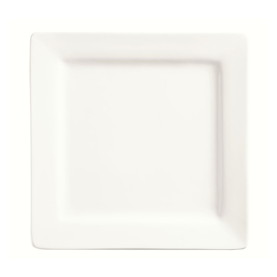 "World Tableware SL-6 6.25"" Plate - Square, Porcelain, Slate"