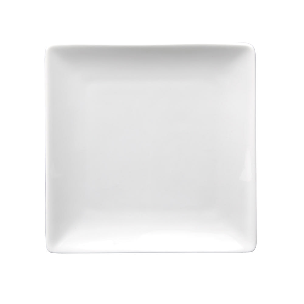 "World Tableware SL-6C 6-1/4"" Square Coupe Plate -  Ultra Bright White, Slate"