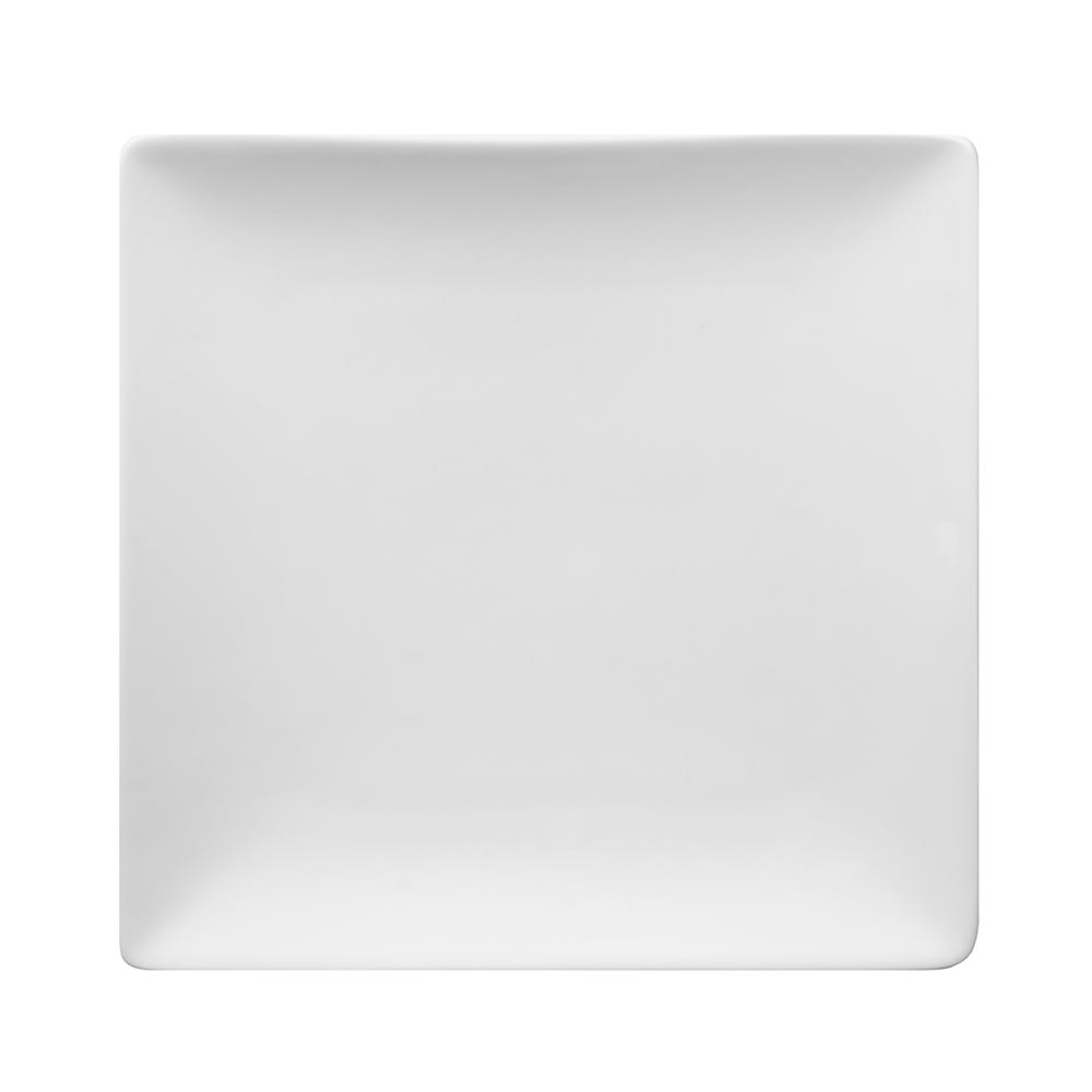 "World Tableware SL-7C 7-1/2"" Slate Square Coupe Plate -  Ultra Bright White, Slate"