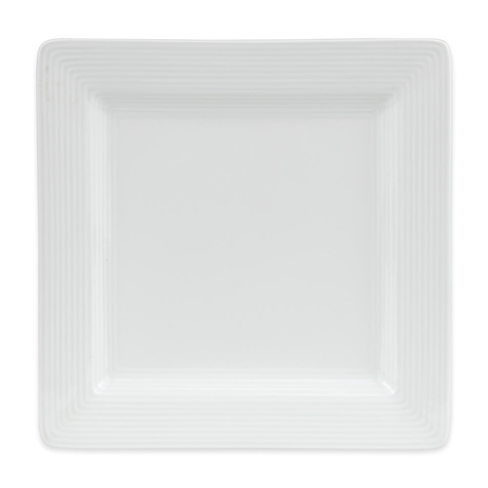 "World Tableware SL-7S 7 1/4"" Porcelana Square Plate - Porcelain, Ultra Bright White"