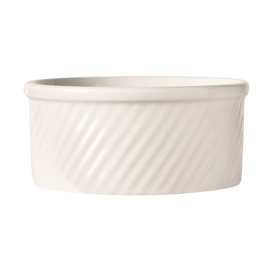 "World Tableware SOU-12 12 oz Round Souffle Dish, 4.5x2.25"", White, Bedrock Ovenware, Ultima"