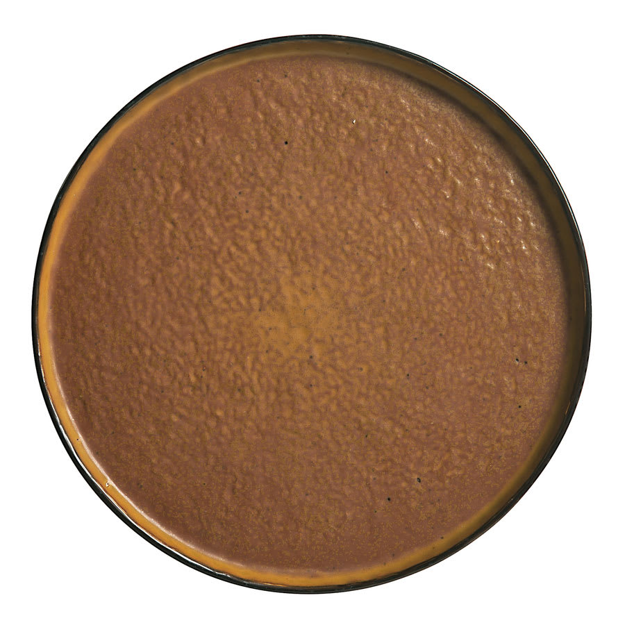 "World Tableware STB-10 10 3/4"" Los Ranchos Round Ceramic Tray - Brown"