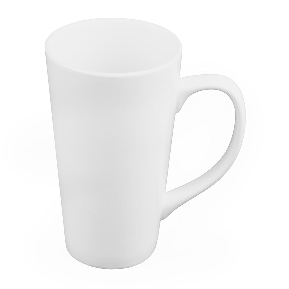 World Tableware TBM-11 10 oz Tall Bistro Mug, White