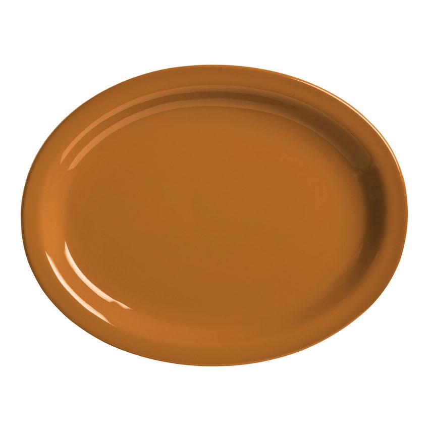 "World Tableware VCC155 15.5"" Round Ceramic Platter, Cocoa Brown, Veracruz"