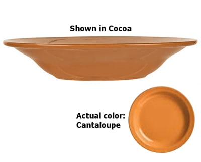 World Tableware VCO-3 12-oz Rim Soup Bowl, Veracruz - Cantaloupe