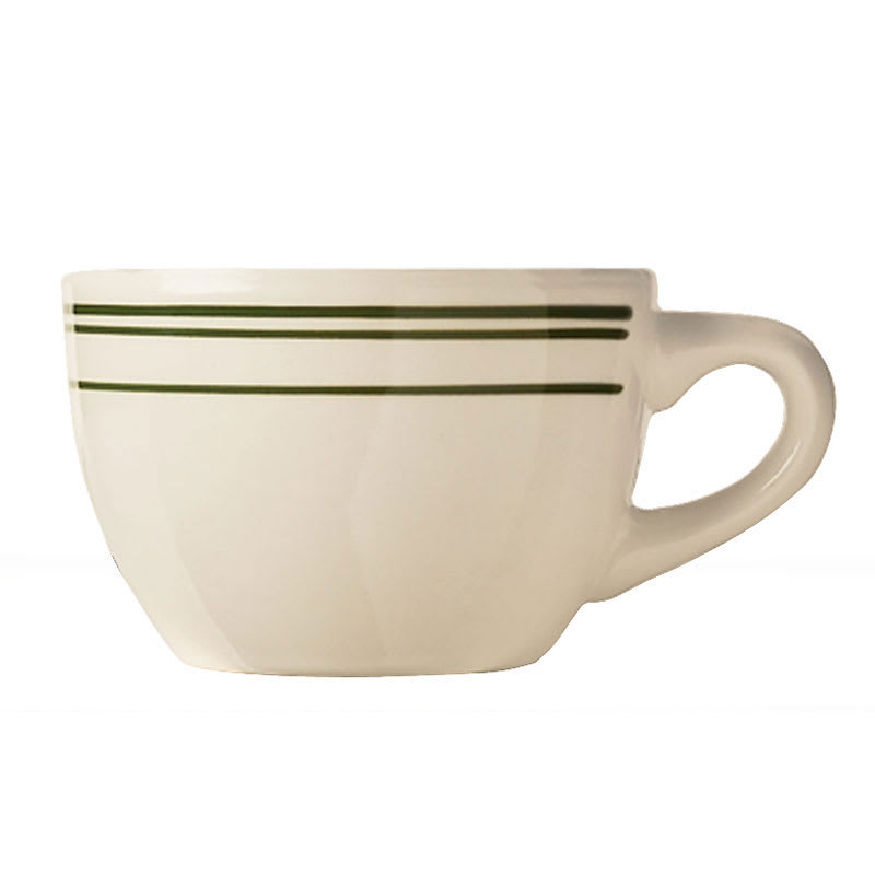 World Tableware VIC-37 Viceroy Cup - Plain, (3) Green Bands