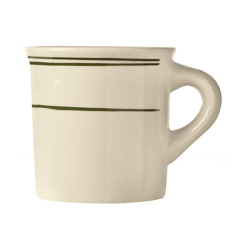 World Tableware VIC-38 Viceroy Mug - Plain, (3) Green Bands