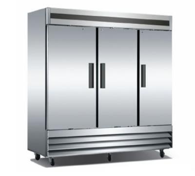 "Metalfrio CFD-3RR-72 81"" Three Section Reach-In Refrigerator, (3) Solid Door, 115v"