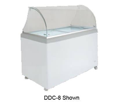 "Metalfrio DDC-12 71"" Stand Alone Ice Cream Freezer w/ 12-Tub Capacity & 10-Tub Storage, 120v"