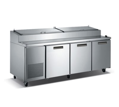 """Metalfrio PICL3-92-12 92"""" Pizza Prep Table w/ Refrigerated Base, 115v"""