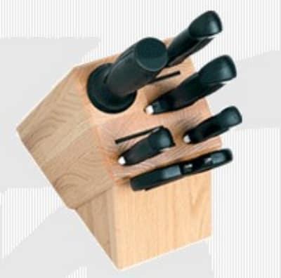 Shun 99007 Bamboo Block Knife Set w/ Chef's, Paring, Utility, & Slicing Knives