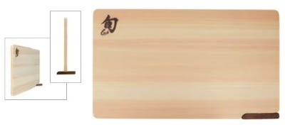 Shun DM0806 Shun Hinoki Wood Cutting Board w/ Built-In Stand