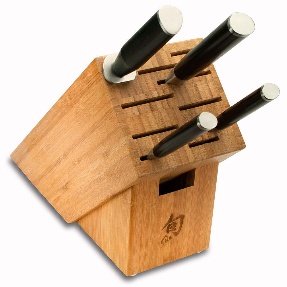 "Shun DMS0510 5 Piece Starter Block Set w/ 3.5"" Paring 6"" Utility 8"" Chefs Honing Steel"