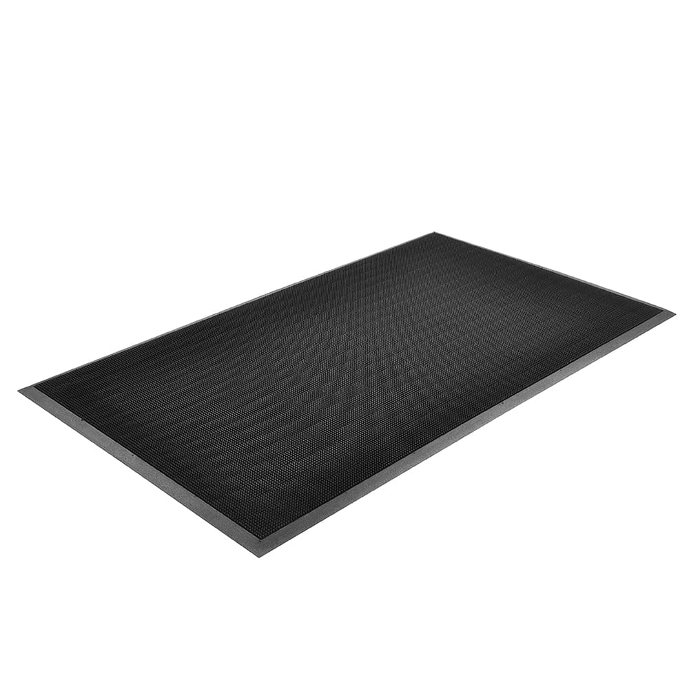 "Notrax T28U1624BL Finger Scrape Entrance Floor Mat, 16 x 24 in, 3/8"" Thick, Black"
