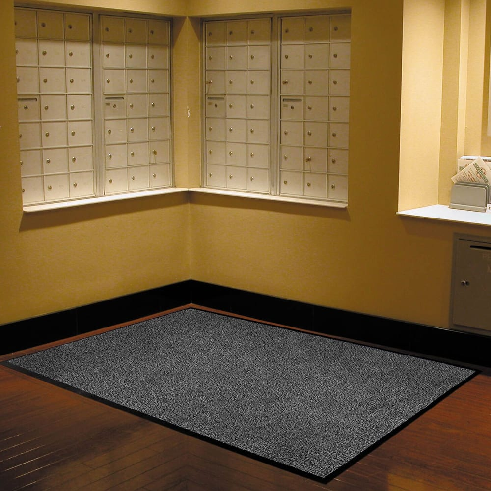 Notrax T37S0046CH Atlantic Olefin Floor Mat, Exceptional Water Absorbtion, 4 x 6 ft, Gun Metal