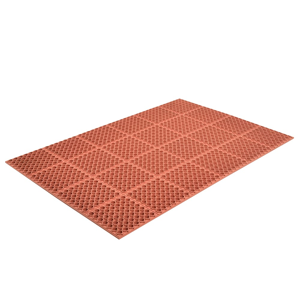 "Notrax T26U3958RD Hercules Economy Grease Resistant Floor Mat, 39 x 58-1/2 in, 7/8"" Thick, Red"