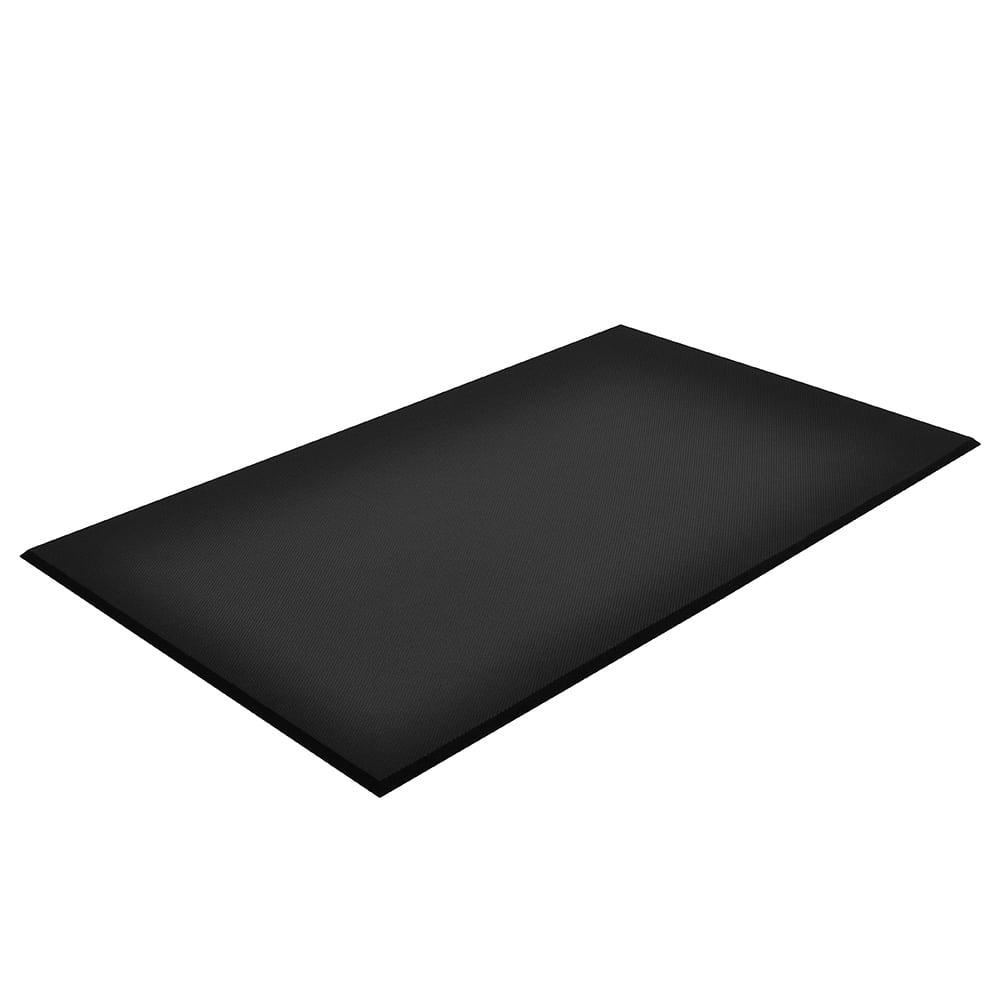 "Notrax T17S0038BL Comfort Floor Mat, PVC Nitrile, 3 ft x 8 ft x 5/8"", Black"