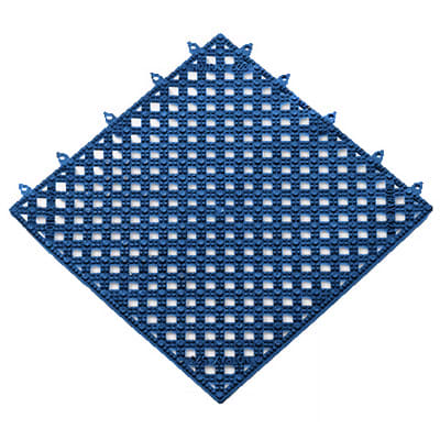 Notrax T47S1212BU Plasti-TILE Shelf & Bar Liner, 12 x 12 in, Interlocking, Blue
