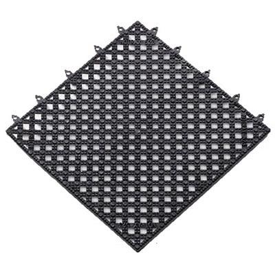 Notrax T47S1212BL Plasti-TILE Shelf & Bar Liner, 12 x 12 in, Interlocking, Black