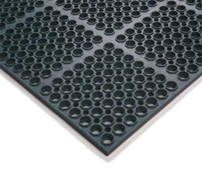 "Notrax 65589 Hercules Economy General Purpose Floor Mat, 39 x 29-1/4 in, 7/8"" Thick, Black"