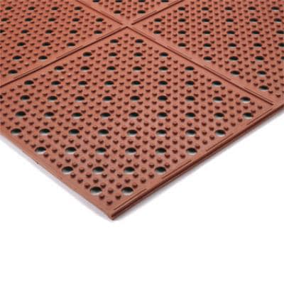 Notrax 1000-013-3RD Reversible Drainage Floor Mat - 3 ft Rolls, Rubber, Red