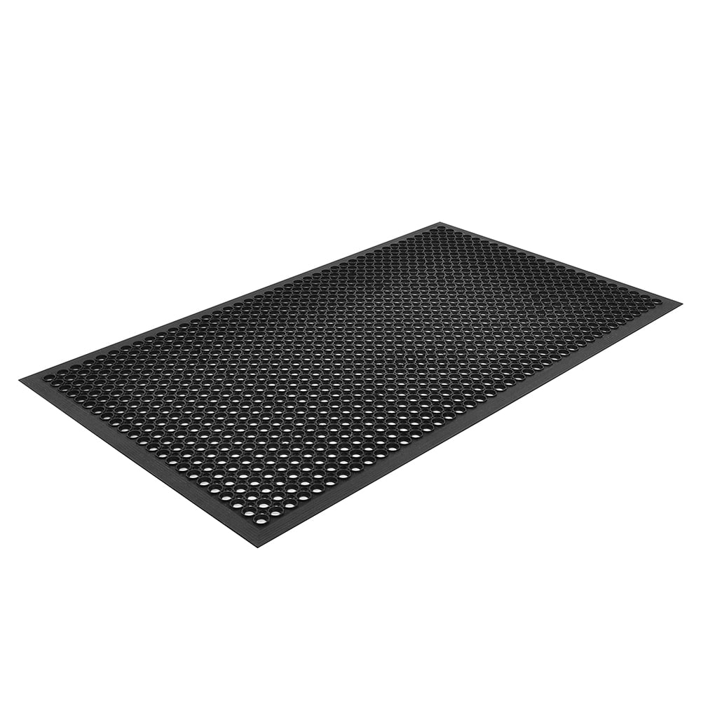 "Notrax T30U0033BL Competitor General Purpose Floor Mat, 3 x 3 ft, 1/2"" Thick, Black"