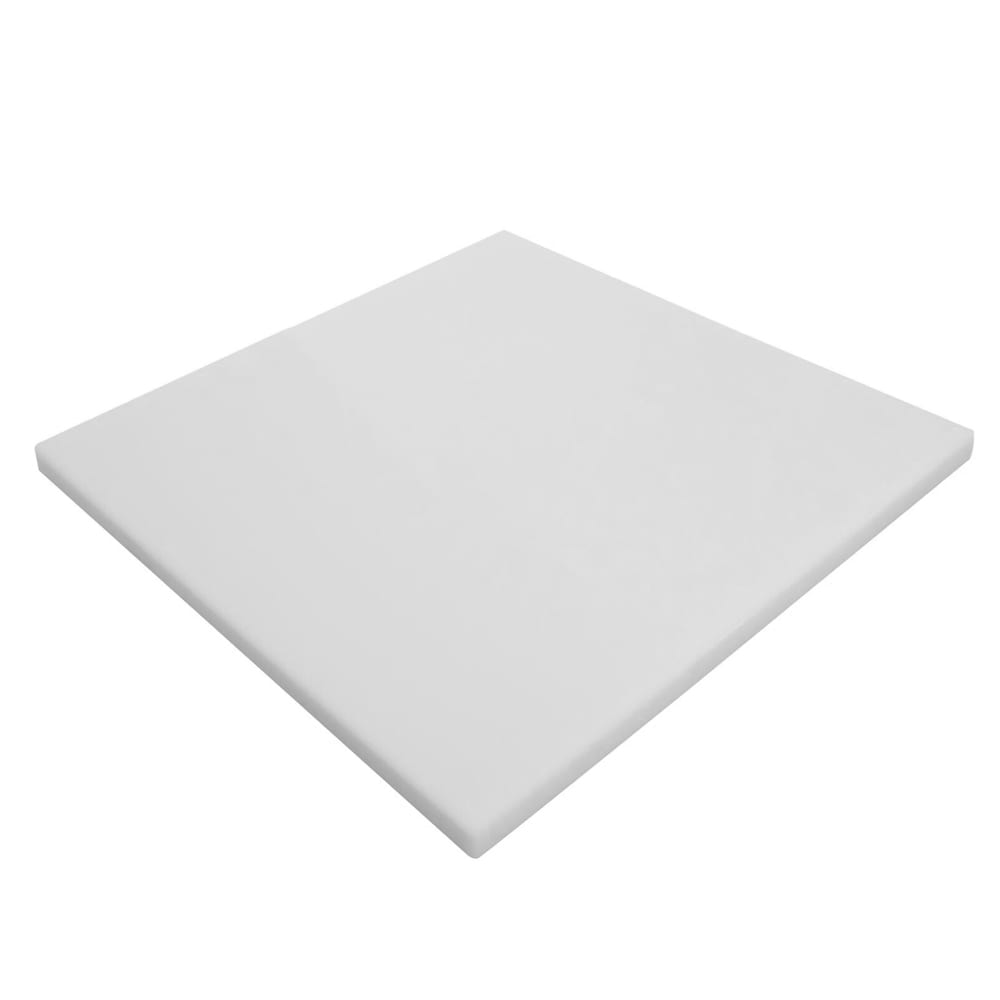 "Notrax T46S2008WH Cutting Board, Polyethylene, 8 x 8 x 1/2"", White"