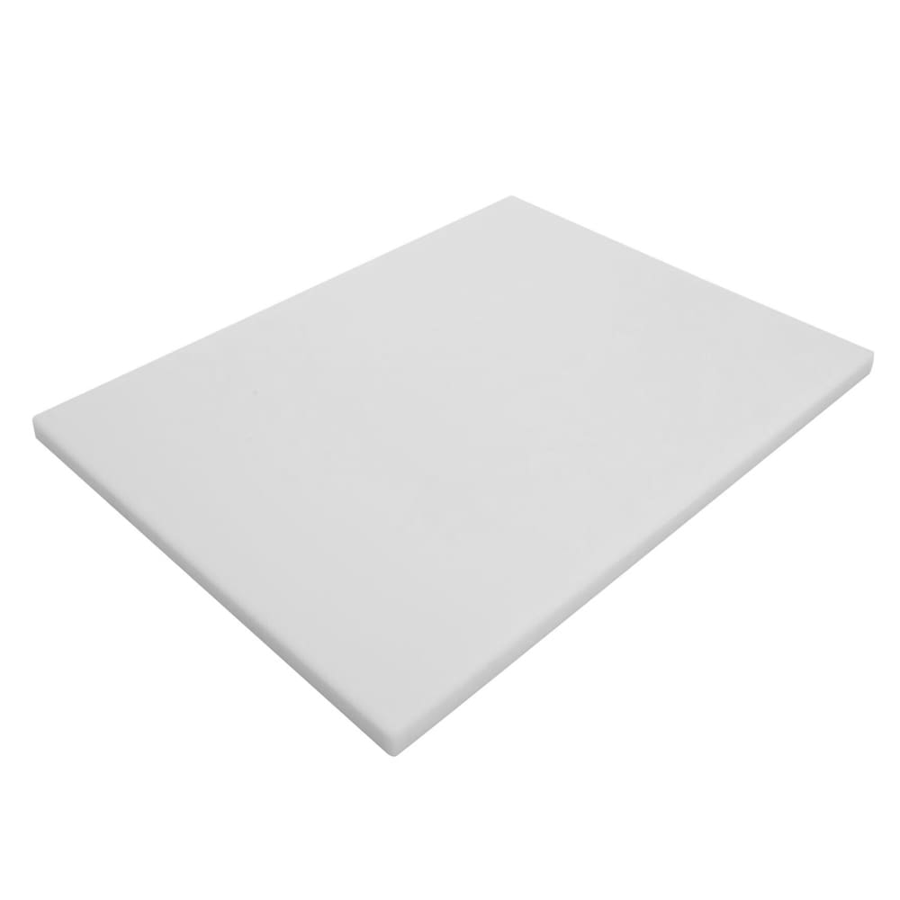 "Notrax T46S3012WH Cutting Board, Polyethylene, 12 x 18 x 3/4"", White"