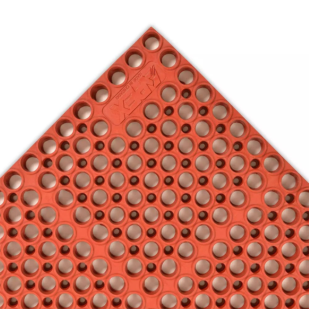 "Notrax T11U3958RD San-Eze II Grease-Proof Floor Mat, 39 x 58 1/2 in, 7/8"" Thick, Red"