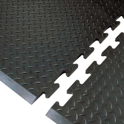 "Notrax T20S2831BL Footsaver Solid Surface Rubber Mat, 28 x 31 in, 3/8"" Thick"