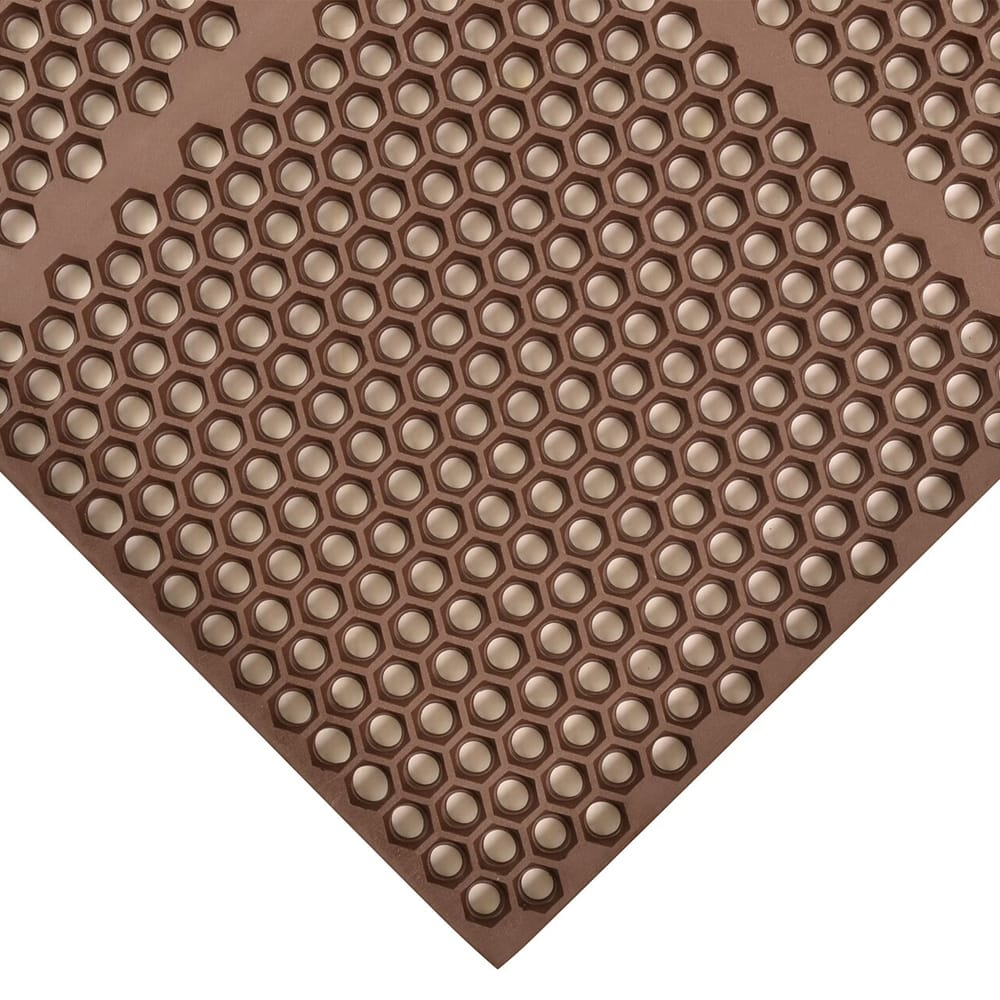 "Notrax T15U0032BR Optimat Grease-Resistant Floor Mat, 36 x 24 in, 1/2"" Thick, Brown"