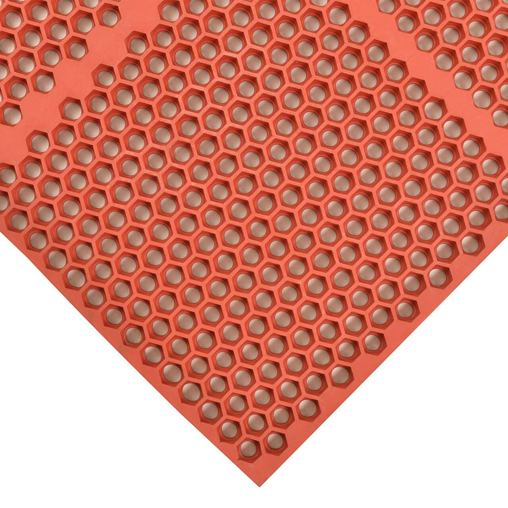 "Notrax T15U0036RD Optimat Grease-Proof Floor Mat, 36 x 72 in, 1/2"" Thick, Red"