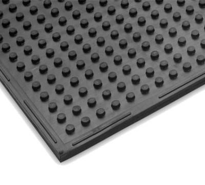 "Notrax T21S0038BL Traction Mat Multi-Purpose Floor Mat, 3 x 8 ft, 3/8"" Thick, General Black"