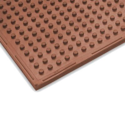 "Notrax T21U0034RD Traction Mat Oil Resistant Floor Mat, 3 x 4 ft, 3/8"" Thick, Heavy-Duty Red"