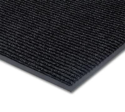 Notrax 0434-347 Floor Mat, Polypropylene, Ribbed Vinyl Back, Fade-Resistant, 3 x 4-ft, Midnight