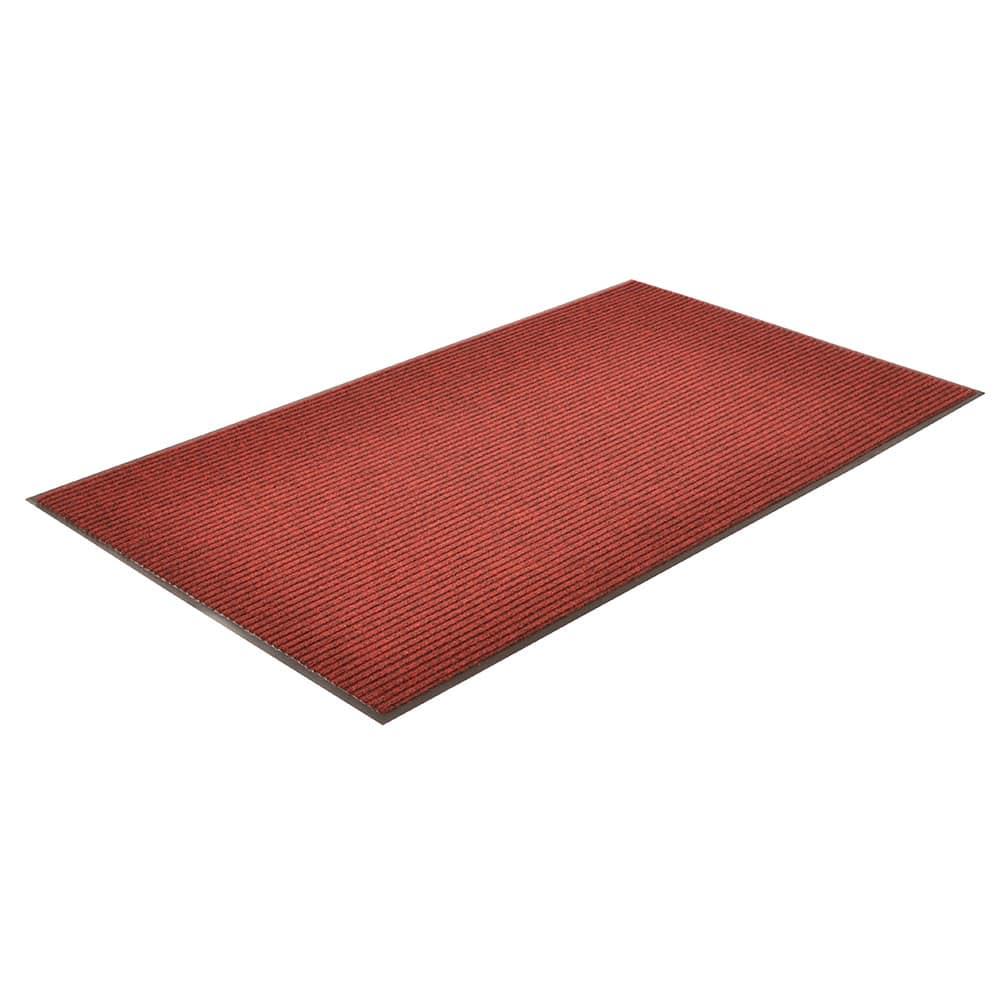 Notrax T39S0034RB Floor Mat, Polypropylene, Ribbed Vinyl Back, Fade-Resistant, 3 x 4 ft, Cardinal