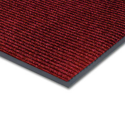 Notrax 0434-361 Floor Mat, Polypropylene, Ribbed Vinyl Back, Fade-Resistant, 4 x 8-ft, Cardinal