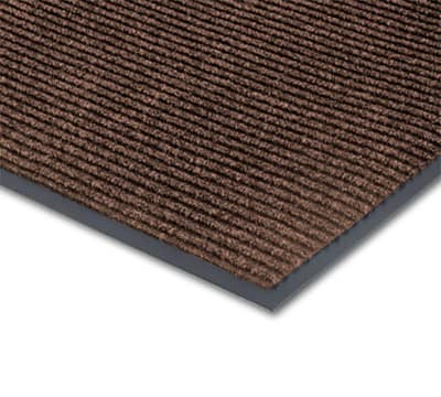 Notrax T39R0036BR Floor Mat, Polypropylene, Ribbed Vinyl Back, Fade-Resistant, 3 x 60-ft, Coffee