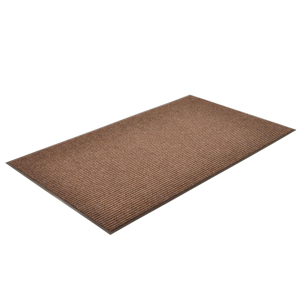 Notrax T39S0046BR Floor Mat, Polypropylene, Ribbed Vinyl Back, Fade-Resistant, 4 x 6 ft, Coffee