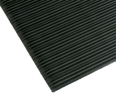 """Notrax T42S3275BL Comfort Rest Anti-Fatigue Floor Mat, 27 x 60 in, 3/8"""" Thick, Ribbed, Coal"""