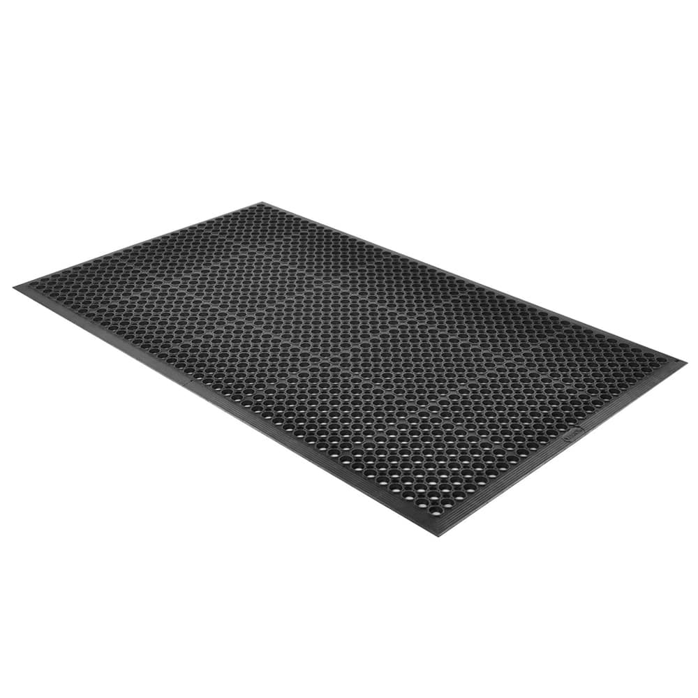 "Notrax T14S0310BL Tek-Tough Jr General Purpose Floor Mat, 3 ft x 9 ft 10 in, 1/2"" Thick, Black"