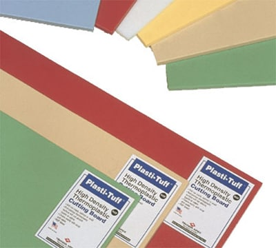 """Notrax T48S2012TN Color Coded Cutting Board, Wall Chart & Cutting Guide, 12 x 18 x 1/2"""", Tan"""