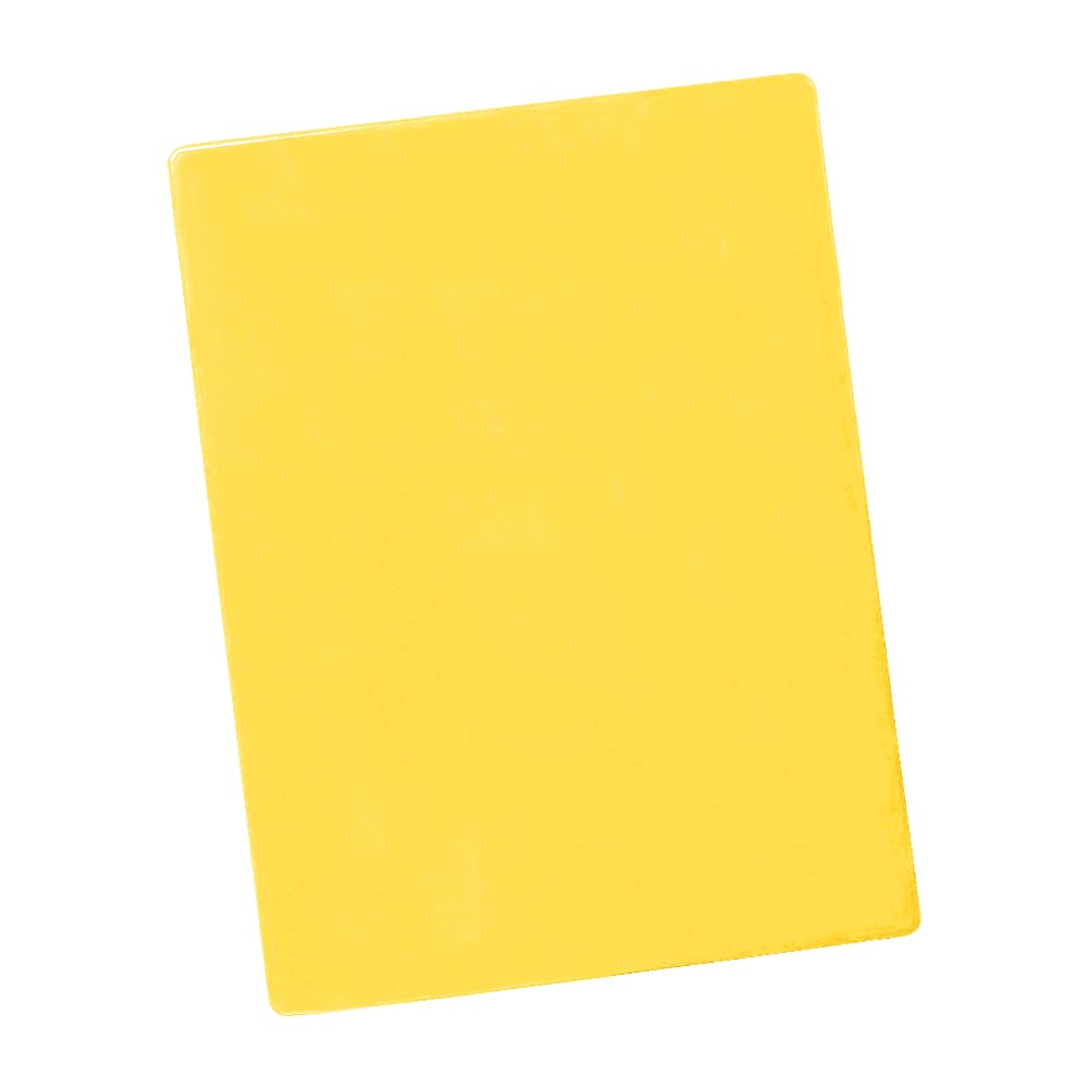 "Notrax T48S2018YL Color Coded Cutting Board, Wall Chart & Cutting Guide, 18"" x 24, Yellow"