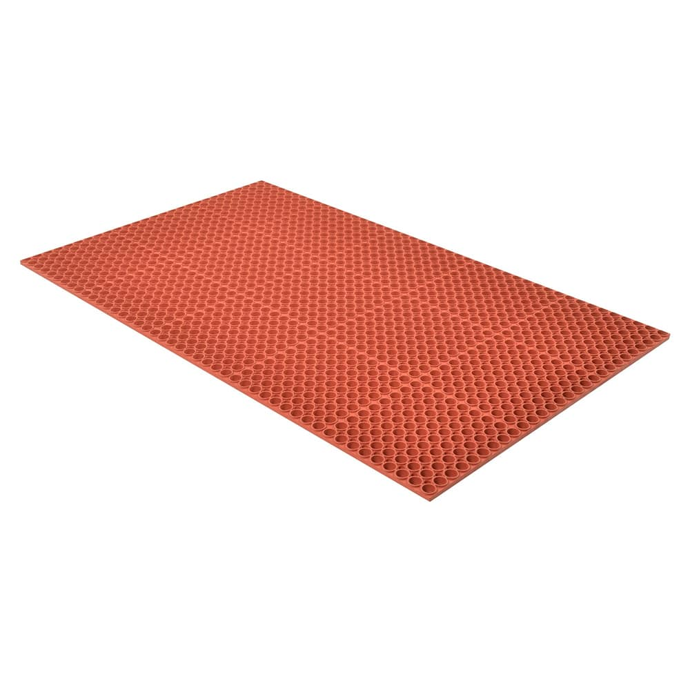 "Notrax T13U0033RD Tek-Tough Anti-Fatigue Floor Mat, Grease Resistant, 3 x 3 ft, 7/8"" Thick, Red"